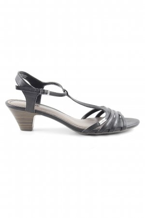 s.Oliver Strapped High-Heeled Sandals black brown casual look