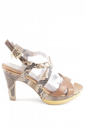 s.Oliver High Heel Sandaletten Animalmuster extravaganter Stil