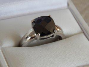 s.Oliver Zilveren ring zwart-zilver