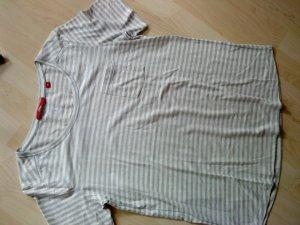 s.Oliver Gestreept shirt lichtgrijs-wit Katoen
