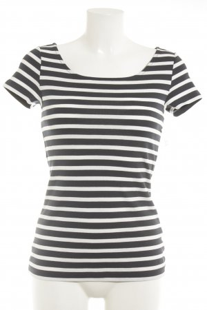 s.Oliver Stripe Shirt natural white-dark blue horizontal stripes classic style