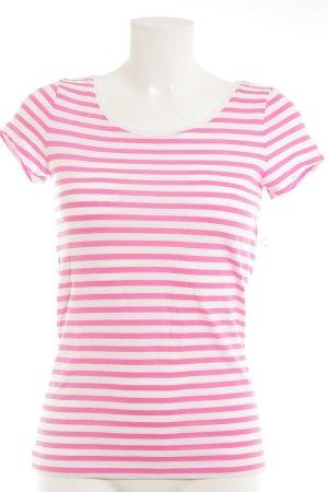 s.Oliver Maglietta a righe bianco sporco-rosa strisce orizzontali stile semplice