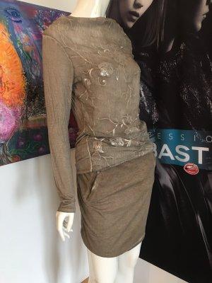 S'Oliver Rock neu  mit Etikette Kombination und la Shirt Pailletten Taupe Small