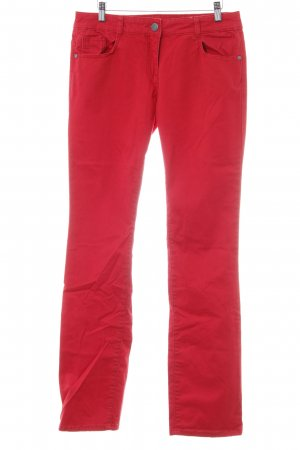 s.Oliver Röhrenhose rot Casual-Look