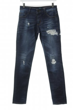 s.Oliver Tube Jeans blue-natural white distressed style
