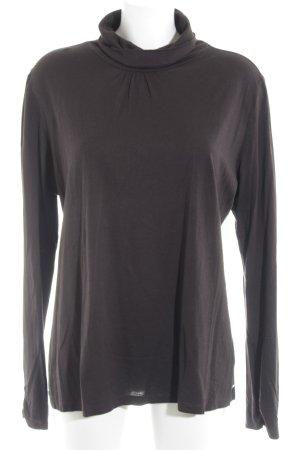 s.Oliver Turtleneck Sweater dark brown simple style