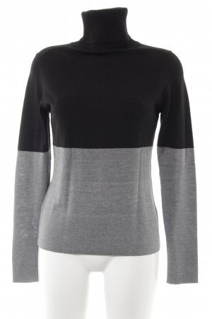 s.Oliver Rollkragenpullover schwarz-grau Colourblocking Business-Look