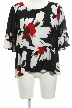 s.Oliver Ruffled Blouse flower pattern casual look