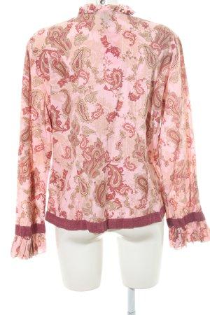 s.Oliver Rüschen-Bluse florales Muster extravaganter Stil