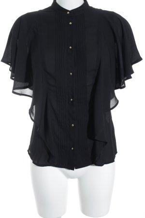 s.Oliver Ruche blouse zwart