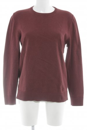 s.Oliver Rundhalspullover bordeauxrot Casual-Look