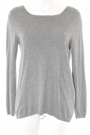 s.Oliver Crewneck Sweater grey flecked simple style