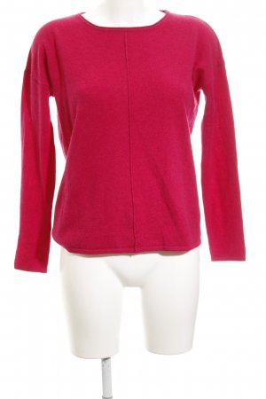s.Oliver Rundhalspullover magenta Casual-Look