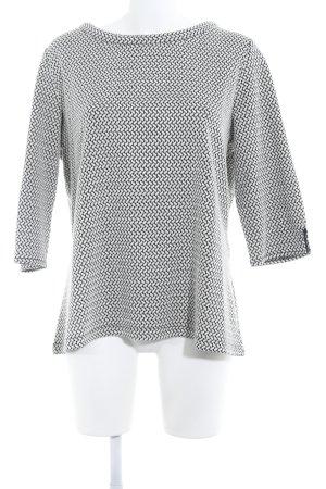 s.Oliver Rundhalspullover weiß-schwarz abstraktes Muster Casual-Look