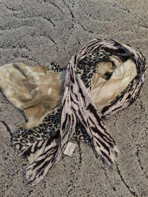 S.Oliver Schal Tuch Tierdruck beige Creme braun