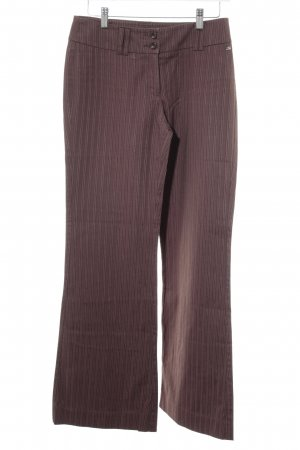 s.Oliver Flares light brown pinstripe casual look
