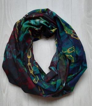 Bufanda tubo azul acero-verde