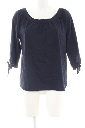 s.Oliver Schlupf-Bluse blau Business-Look