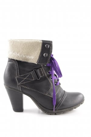 s.Oliver Lace-up Booties multicolored casual look