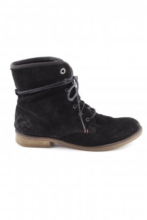 s.Oliver Lace-up Booties black casual look