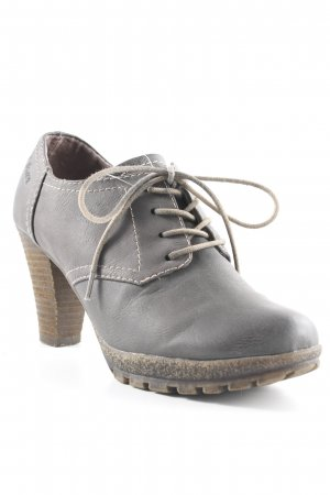 s.Oliver Bottines à lacets taupe style d'affaires