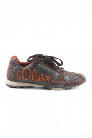 s.Oliver Schnürsneaker braun Casual-Look