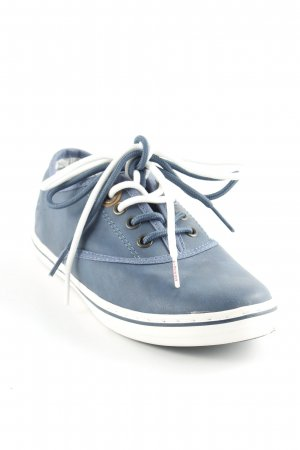 s.Oliver Schnürsneaker stahlblau Casual-Look