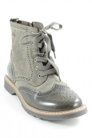 s.Oliver Lace-up Boots khaki-green grey casual look