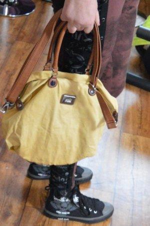 S. OLIVER schöne okkerfarbende Tasche waschbar mit kurzen und langen Henkel