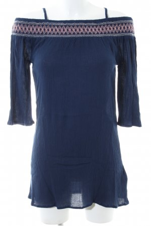 s.Oliver Vestido strapless azul look casual