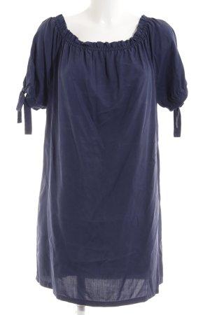 s.Oliver Off the shoulder jurk blauw casual uitstraling