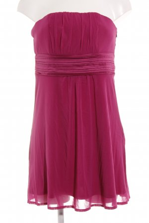 s.Oliver schulterfreies Kleid magenta-pink Elegant