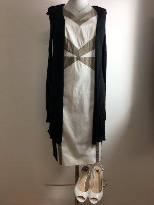 S.Oliver selected Kleid weiß schwarz beige
