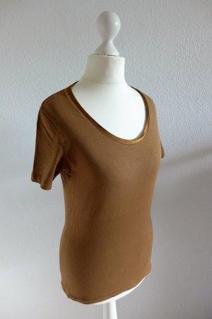 s.Oliver Selection Basic T-Shirt Oberteil braun kupfer Gr. 36 wie neu