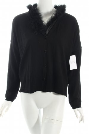 s.Oliver SELECTION Cardigan schwarz Eleganz-Look