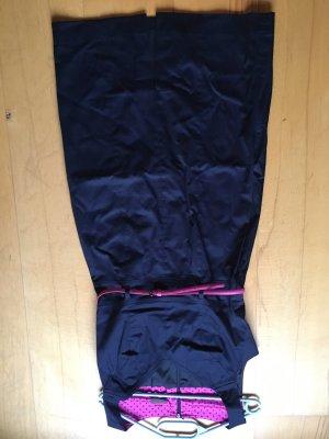 S. Oliver Selection Kleid blau pinker Gürtel