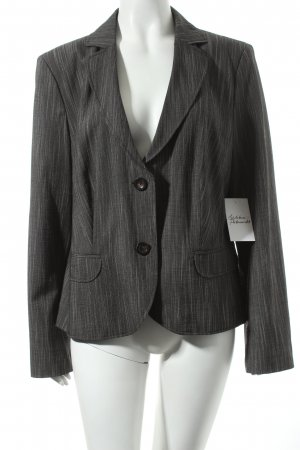 s.Oliver SELECTION Kurz-Blazer dunkelgrau Nadelstreifen Business-Look