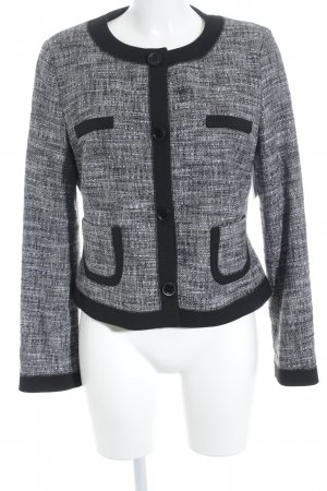 s.Oliver SELECTION Kurz-Blazer grau-weiß meliert Business-Look