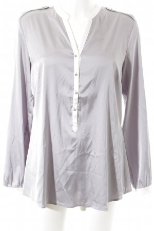 s.Oliver SELECTION Langarm-Bluse weiß-graulila Business-Look