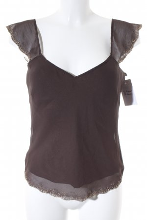 s.Oliver SELECTION Spitzentop graubraun Casual-Look