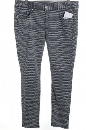 s.Oliver SELECTION Stoffhose weiß-dunkelblau abstraktes Muster Casual-Look