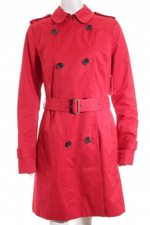 s.Oliver SELECTION Trenchcoat rot Street-Fashion-Look