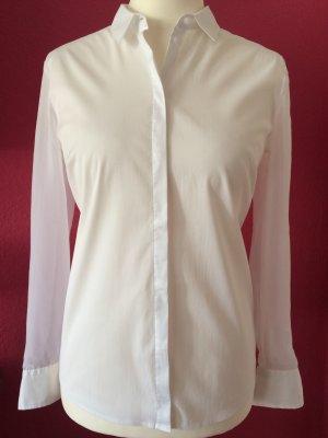 S.Oliver Selection weiße Bluse mit Chiffon-Ärmeln
