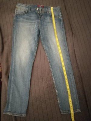s.Oliver Jeans 7/8 bleu pâle coton