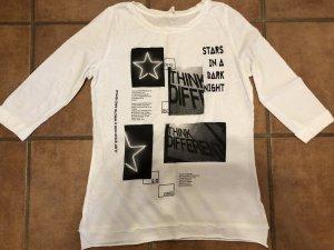 QS by s.Oliver Shirt met print wit-grijs