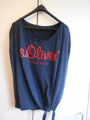 S. Oliver Shirt Blau Größe 40/L