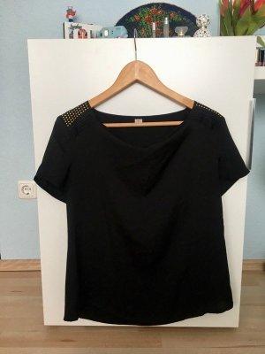 S. Oliver Shirt Bluse Schwarz mit Nieten