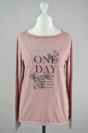 s.Oliver Shirt langärmlig mit Aufdruck rosa pink Größe S