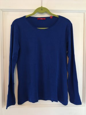 S. Oliver Shirt Longsleeve blau Gr. 42