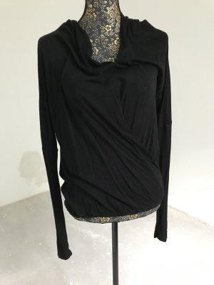 s.Oliver Wraparound Shirt black viscose